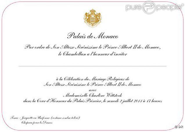 Mariage Du Prince Albert Et Charlene Decouvrez Leur Carton D