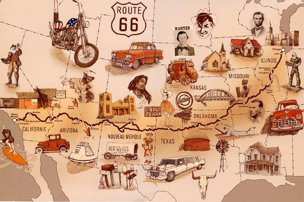 Route_66_Trajet