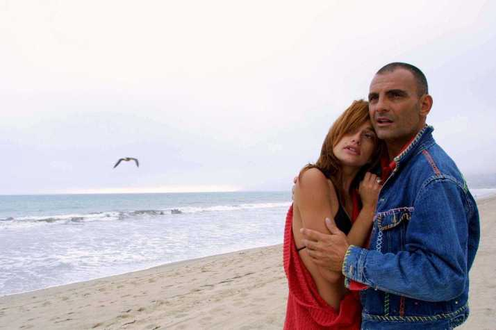 Beverly Hills: french designer Christian Audigier & girlfriend Ira Barbieri