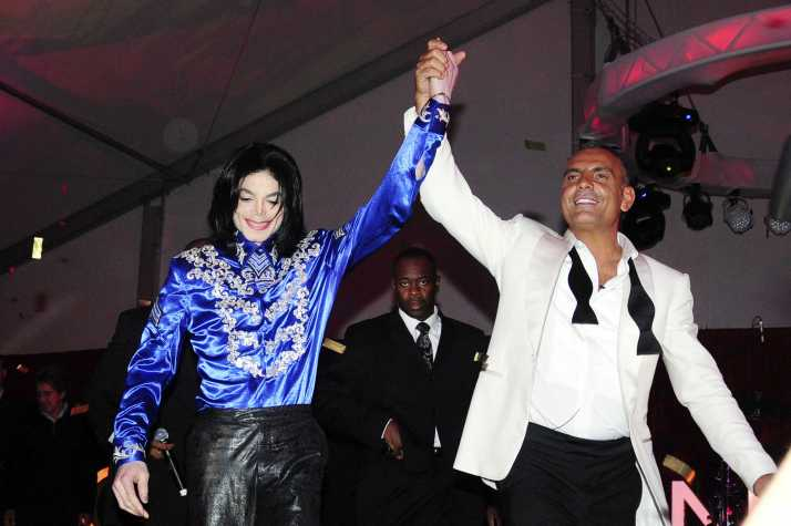 Michael Jackson and Christian Audigier. Christian Audigier 50th birthday party at the Petersen Automotive museum in Handcock park, inside Los Angeles, US-23/05/08