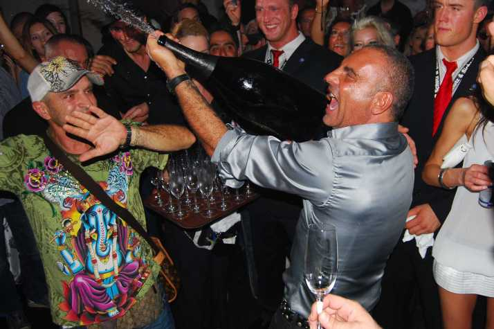 """Designer Christian Audigier at the party of his label  """"Ed Hardy"""" for the fashion fair """"Bread and Butter"""" at the Club Felix in Berlin. Berlin, GERMANY -02/07/2009"""