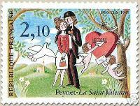 fleurs-groupc3a9es-les-amoureux-de-peynet-timbre